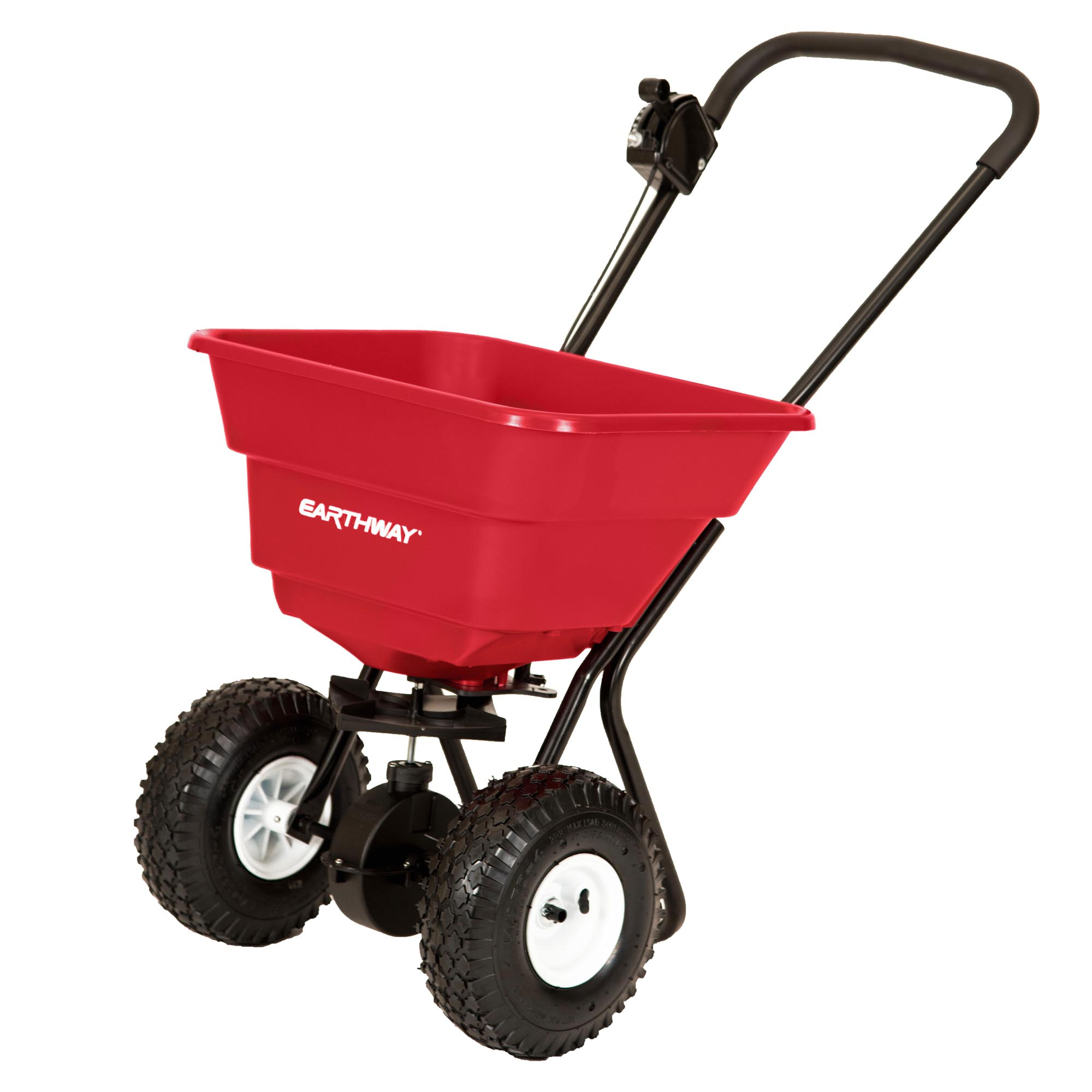 80 LB COMMERCIAL BROADCAST SPREADER WITH PNEUMATIC TIRES