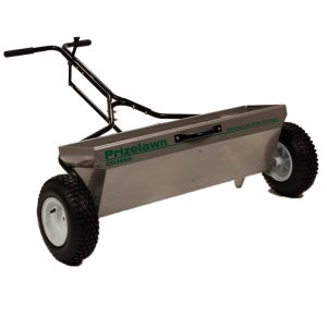 PRIZELAWN 100 LB STAINLESS STEEL COMMERCIAL DROP SPREADER