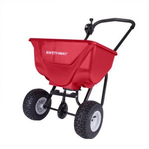 65 LB COMMERCIAL BROADCAST SPREADER WITH PNEUMATIC TIRES