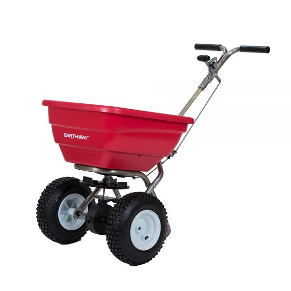 80 LB COMMERCIAL STAINLESS BROADCAST SPREADER WITH STANDARD OUTPUT TRAY